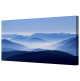 "Blue Mountains Giclee Framed Canvas Print 18"" x 40"""