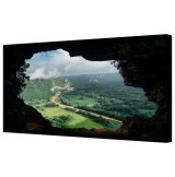 "Secret Cave Landscape Framed Canvas Wall Art Picture 18"" x 32"""