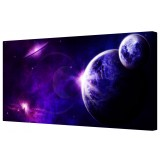 Blue Moon Universe Framed Canvas Wall Art Picture