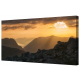Golden Mountain Panorama Canvas Wall Art Picture