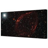 Exploding Star Framed Space Canvas Wall Art Picture