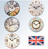 Large Wooden Wall Clock [Various Designs]