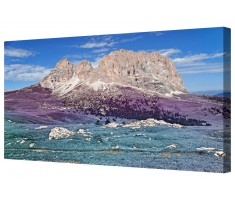 Lavender Fantasy Dolomites Framed Canvas Wall Art Picture