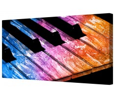 Vibrant Piano Keys Framed Canvas Wall Art Picture