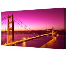 Golden Gate Bridge Framed Canvas Wall Art Picture