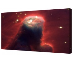 Cone Nebula Crimson Beast Framed Canvas Wall Art Picture