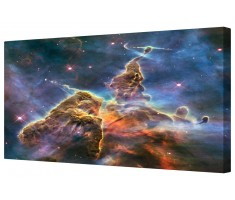 Carina Nebula Mystic Mountain Framed Canvas Wall Art Picture