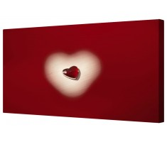 Red Ruby Love Heart Framed Canvas Wall Art Picture