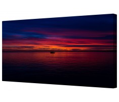 Peaceful Sea Sunset Framed Canvas Wall Art Picture