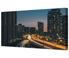 Hectic City Life Cityscape Framed Canvas Wall Art Picture