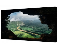 Secret Cave Landscape Framed Canvas Wall Art Picture