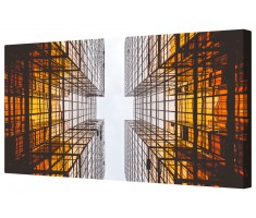 Ambient Skyscraper Framed Canvas Wall Art Picture