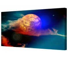 Atmospheric Moon Framed Canvas Wall Art Picture