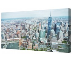 Manhattan New York Framed Canvas Wall Art Picture