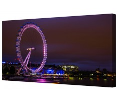 London Eye Illuminated Framed Canvas Wall Art Picture
