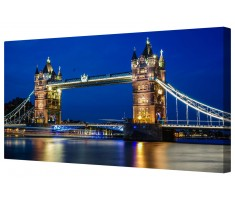 London Tower Bridge Illuminated Framed Canvas Wall Art Picture