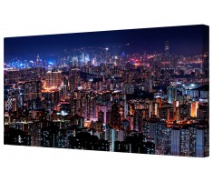 Hong Kong Skyline Framed Canvas Wall Art Picture