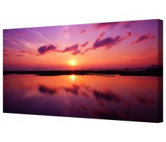 Beautiful Sunset Over Hong Kong Framed Canvas Wall Art Picture