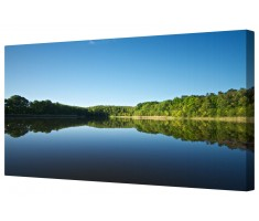 Waterside Landscape Framed Canvas Wall Art Picture
