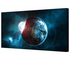 Futuristic Planet Framed Canvas Wall Art Picture