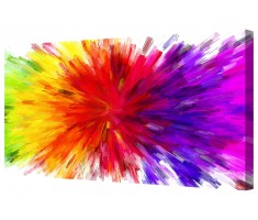 Abstract Multi Colour Explosion Framed Canvas Wall Art Picture