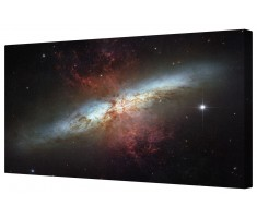 Starburst Galaxy Messier Space Framed Canvas Wall Art Picture