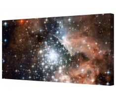 Milky Way Carina Space Star Cluster Framed Canvas Wall Art Picture