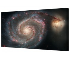 Whirlpool Galaxy Space Star Cluster Framed Canvas Wall Art Picture