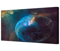 Milky Way Bubble Nebula Space Framed Canvas Wall Art Picture