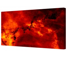 Fiery Space Star Galaxy Framed Canvas Wall Art Picture