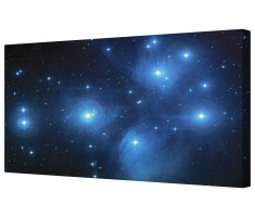 Pleiades Star Cluster Giclee Space Framed Canvas Wall Art Picture