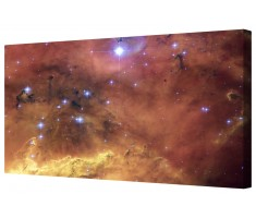 Cosmic Space Star Cluster Framed Canvas Wall Art Picture