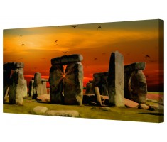 Stonehenge Abstract Canvas Wall Art Picture