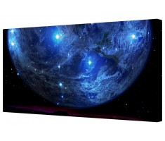 Blue Planet Canvas Wall Art Picture