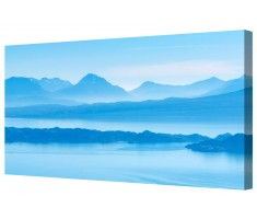 Panoramic Blue Mountain Canvas Wall Art Picture