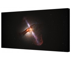 Deep Space Black Hole Canvas Wall Art Picture
