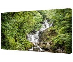 Forest Waterfall Framed Canvas Wall Art Picture