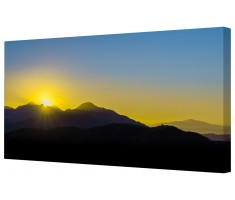 Sunrise Above Los Angeles Framed Canvas Wall Art Picture