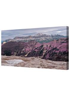 Lavender Fantasy Landscape Framed Canvas Wall Art Picture