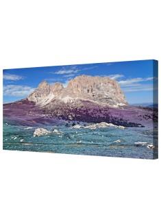 Lavender Fantasy Dolomites Framed Canvas Wall Art Picture