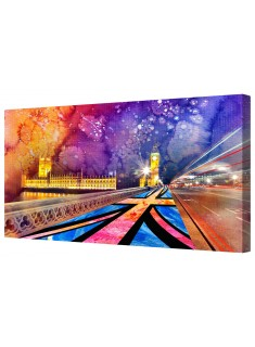 London City Of Arts Framed Canvas Wall Art Picture