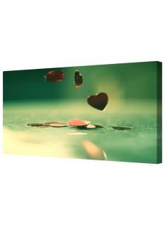 Bouncing Love Hearts Framed Canvas Wall Art Picture