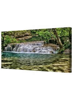 Krushuna Forest Waterfall Framed Canvas Wall Art Picture