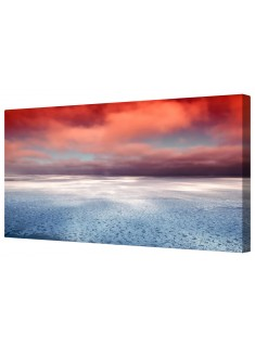 Icy Ocean Seascape Framed Canvas Wall Art Picture