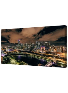 Highlight Cityscape Framed Canvas Wall Art Picture