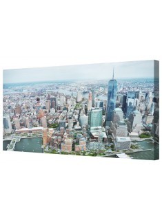 Manhattan New York Framed Canvas Wall Art Picture