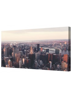New York Skyline Framed Canvas Wall Art Picture