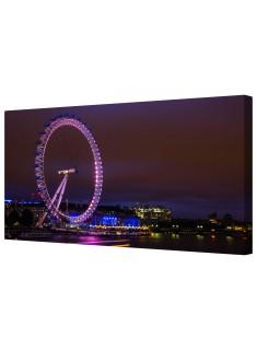 London Eye Illuminated Framed Canvas Wall Art Picture