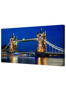 London Tower Bridge Illuminated Framed Canvas Wall Art Picture