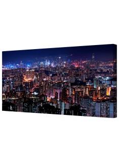 Hong Kong Skyline Framed Canvas Wall Art Picture